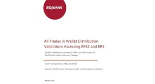 Equifax Distributions Chart - ERS1 vs ERS2 - CANADA ALL TRADES