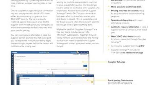 Supplier Xchange Datasheet for Plumbing Contractors