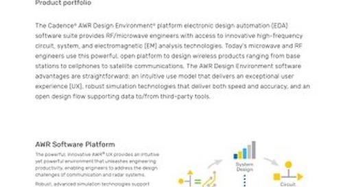 AWR Software Product Portfolio