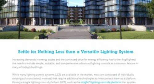 Why nLight is Your Versatile Lighting Controls Solution Article