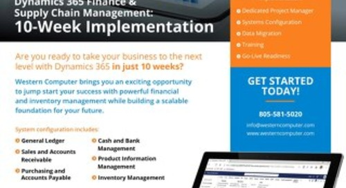 Dynamics 365 Finance & SCM: 10-Wk Implementation