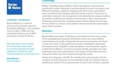 Barton Malow TradeTapp Case Study