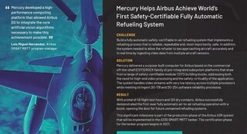 Mercury Helps Airbus Achieve World's First Safety-Certifiable Fully Automatic Refueling System