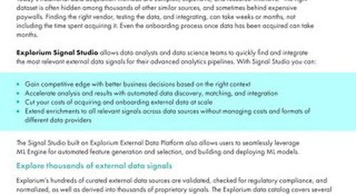 Signal Studio: Find and Use the External Data Signals to Drive Your Business Breakthroughs