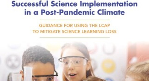 Guidance for Using the LCAP to Mitigate Science Learning Loss