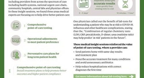 Drive better patient care by focusing on 3 key areas