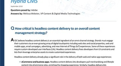 Headless Content Delivery and the Rise of the Hybrid CMS
