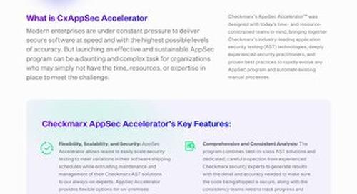 AppSec Accelerator Datasheet - July 2021