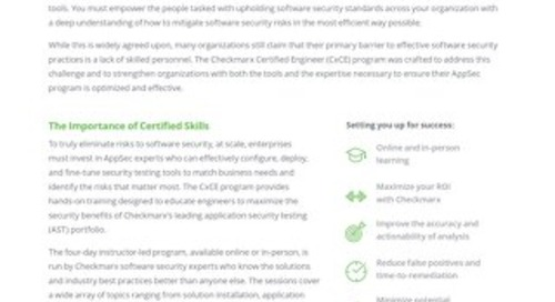 Cx Certified Engineer Data Sheet