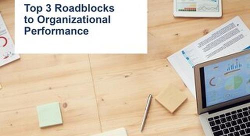 Top 3 Roadlocks to Organizational Performance