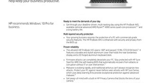 HP ProBook 445 | AMD Ryzen™ power for deadline-driven workdays