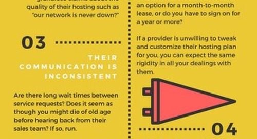 Five Red Flags to Consider Before Choosing Your Next Web Host - Infographic