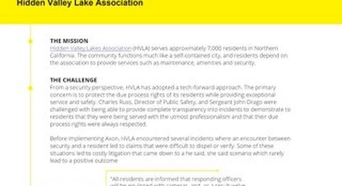 Hidden Valley Lake Association Case Study
