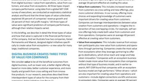 Value in Digital Business
