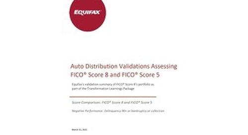 Equifax Distributions Chart - FICO 5 vs FICO 8 - Generic Canada Auto Trades