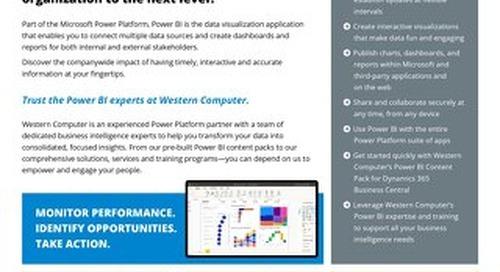 Microsoft Power BI Fact Sheet