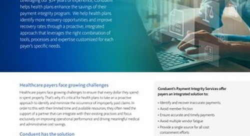 Payment Integrity Services: Improve your identification and recovery of claim overpayments