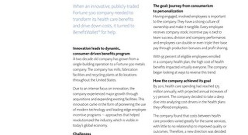How consumer driven health care helped engage employees, drive down costs and increase wellbeing for a Midwest-based manufacturer