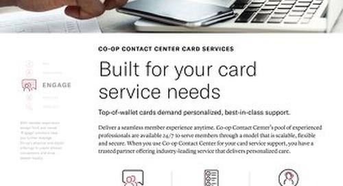 Contact Center Card Services Slipsheet