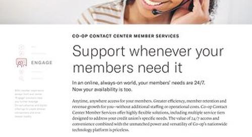 Contact Center Member Services Slipsheet