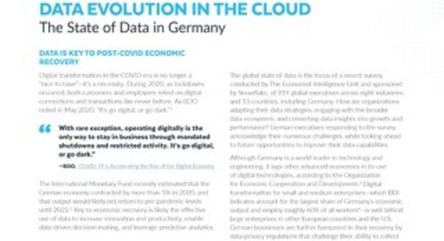 Data's Evolution in the Cloud: Germany's Regulatory Environment Hampers Data Insight