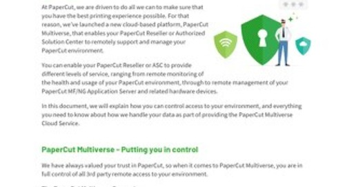PaperCut Multiverse Protecting Your Data Privacy