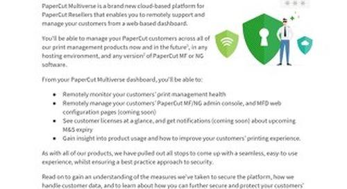 PaperCut Multiverse Security Data Privacy Deep Dive