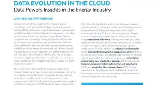 Data's Evolution in the Cloud: Data Powers Insights in the Energy Industry