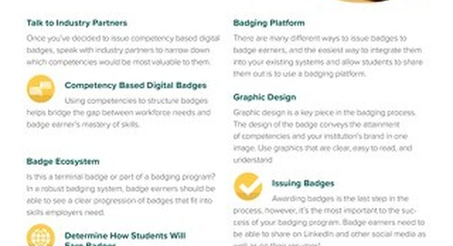 Digital Badging Step-By- Step for Higher Education