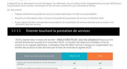 Maintenance Support en Français