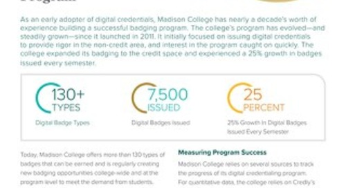Madison College: Expanding an Effective Digital Credentialing Program