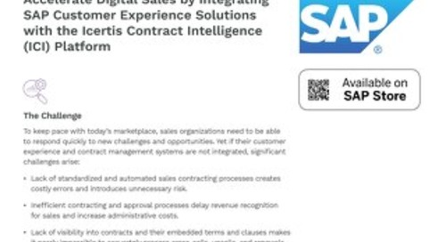 Icertis SAP Customer Experience Integration - Datasheet