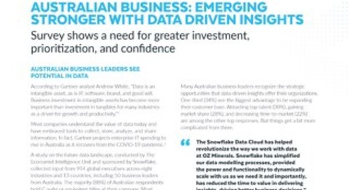 Data's Evolution in the Cloud: Australian Business: Emerging Stronger with Data-driven Insights
