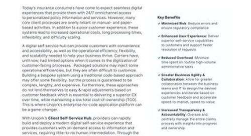 Solution Brief: Client Self-Service Hub