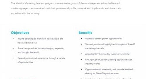 Identity Marketing Leaders Program: Benefits
