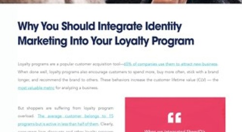 Why You Should Integrate Identity Marketing into Your Loyalty Program