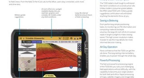 Trimble T100 Tablet Datasheet - English