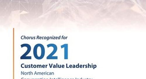 Frost & Sullivan - 2021 Customer Value Leadership Report