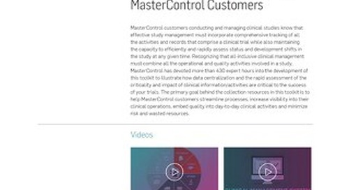 Clinical Management Toolkit for MasterControl Customers