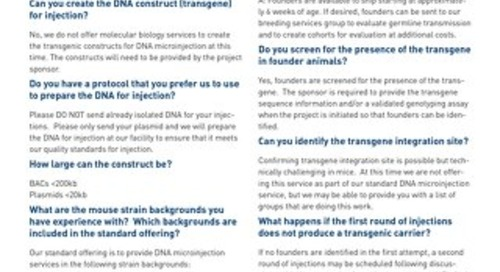 Transgenic Models: FAQ