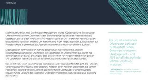 ARIS Confirmation Management