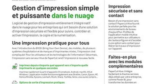 PaperCut Hive Overview en Français