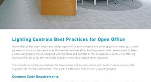 Best Practices - Designing Open Office Lighting Controls