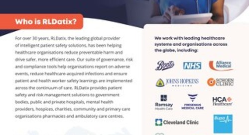 RLDatix: Helping to Keep Patients and Health Workers Safe