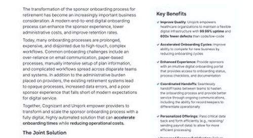 Unqork + Cognizant: Transforming Retirement Plan Sponsor Onboarding