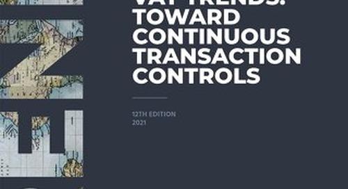 SOVOS VAT TRENDS: Toward Continuous Transaction Controls