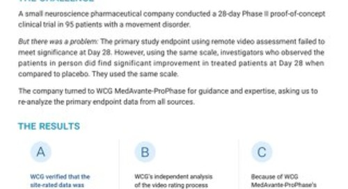 Movement Disorder Case Study: WCG Services for CNS Trials