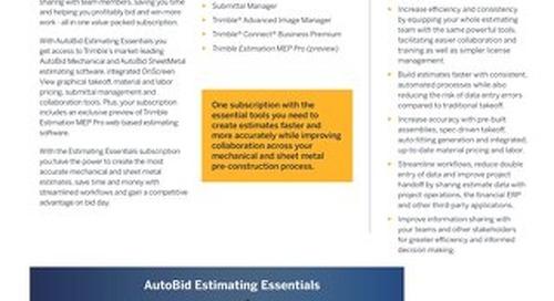 Trimble AutoBid Estimating Essentials