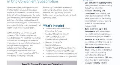 Trimble Accubid Classic Estimating Essentials