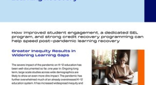 Finding What Works to Speed Learning Recovery